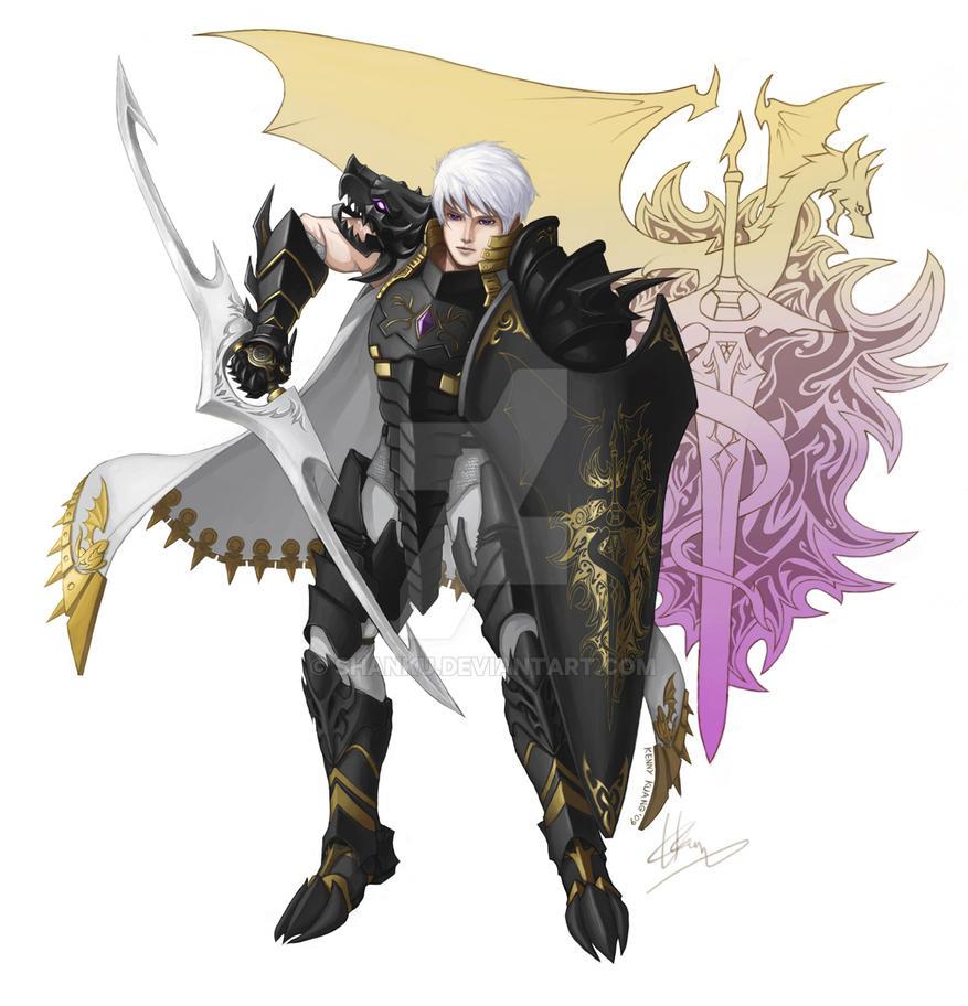 Black Dragon Knight ver.m by shanku