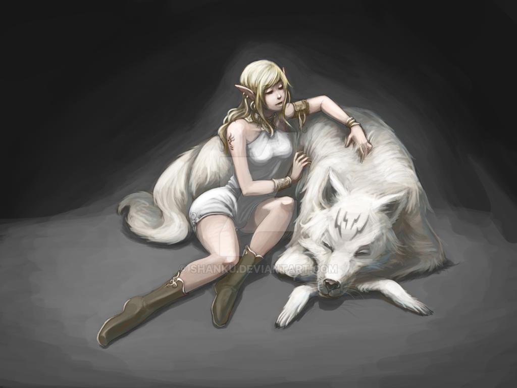 ElF wolf by shanku