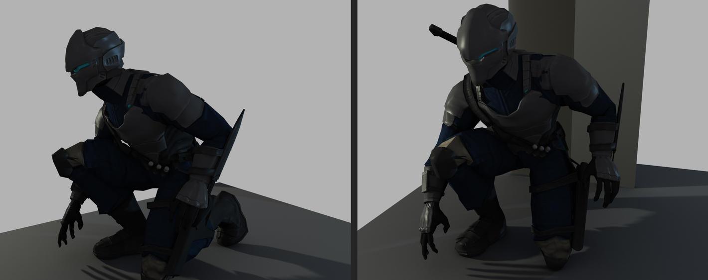 Shadow Wolf - Pose 1 by shanku