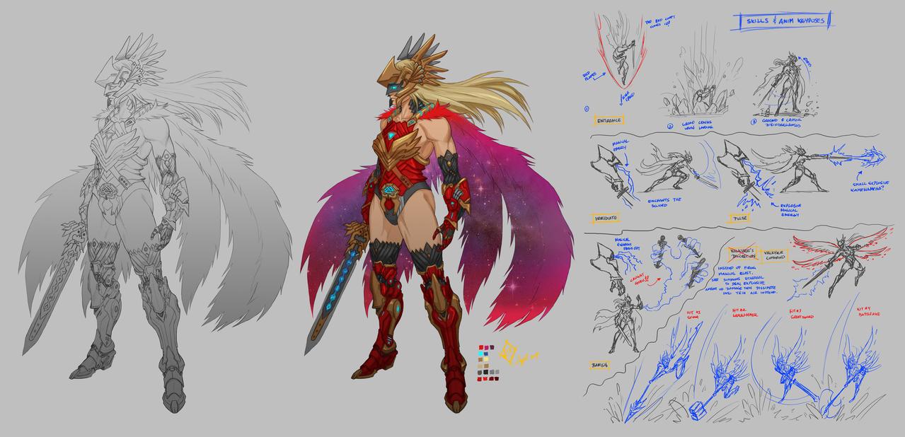 Freya MK II Crimson Valkyrie by shanku
