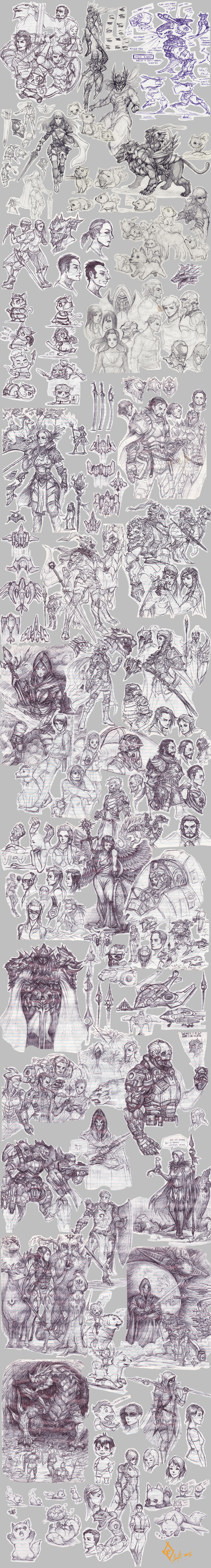 Sketch Collage 01 by shanku