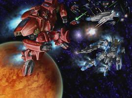 Zeras Wars: Space Battle - 01 by shanku