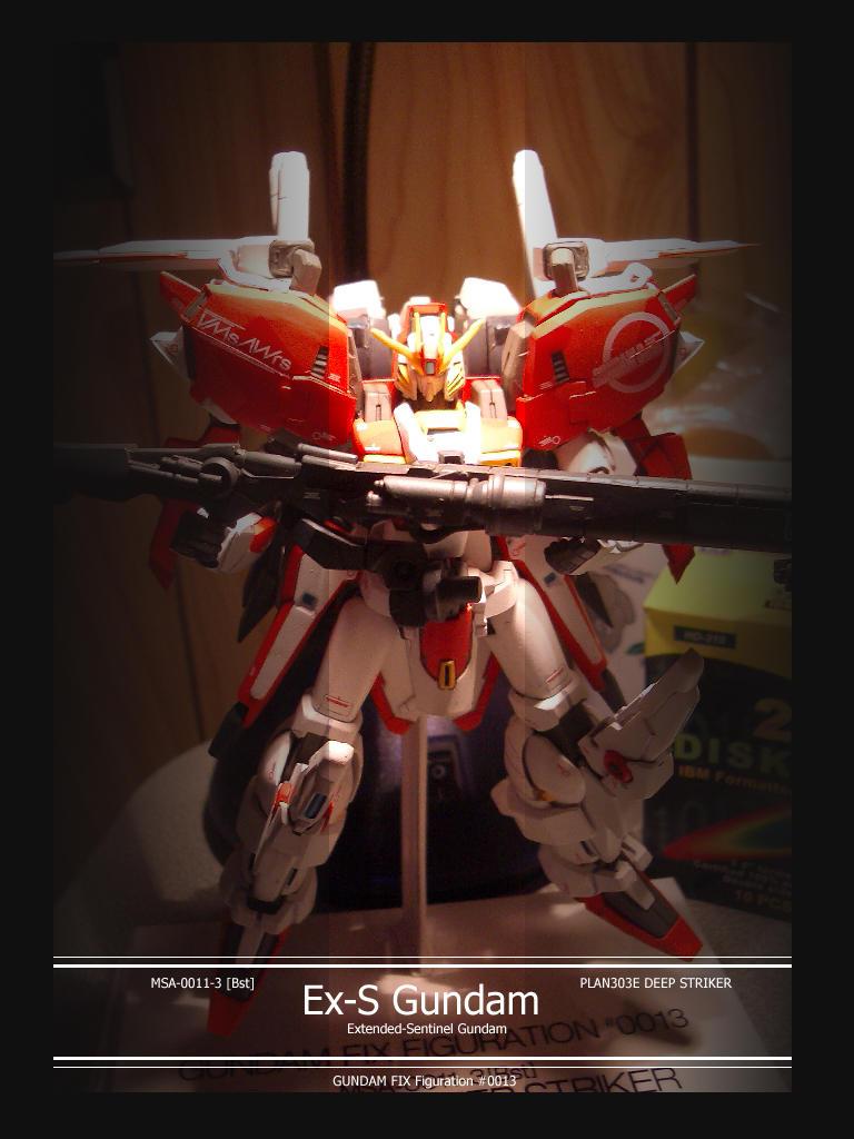 Ex-S Gundam model by shanku