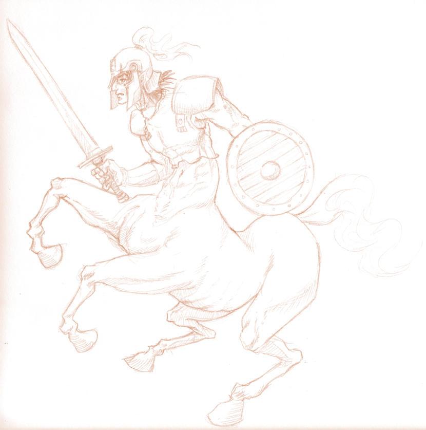 Centaur Warrior 'Sketch' by shanku
