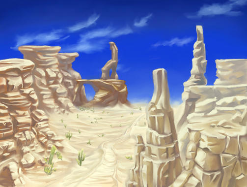 White Sand Desert 'Color' by shanku