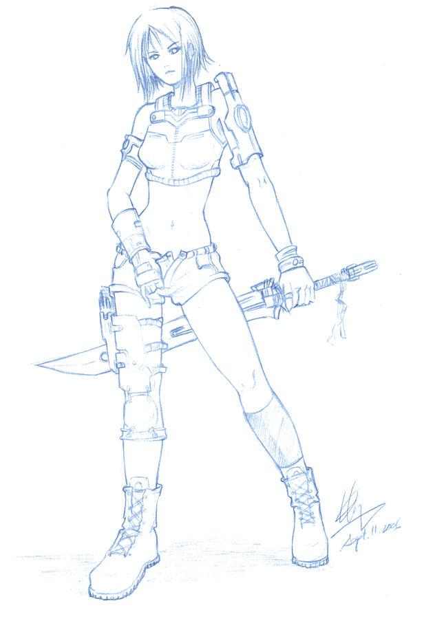 Battlegirl 'Sketch' by shanku