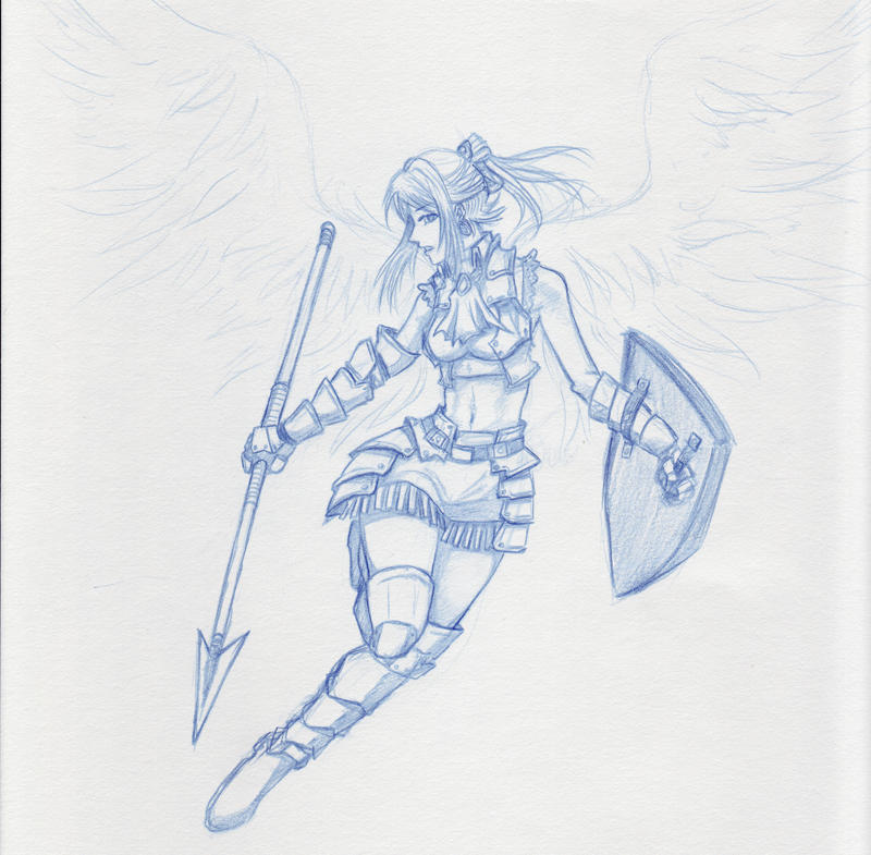 Angel Spear 'Sketch' by shanku