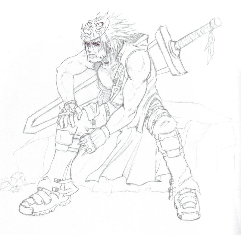 DeviSwordsman 'Sketch' by shanku