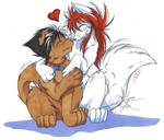 Kurama and Hiei furries