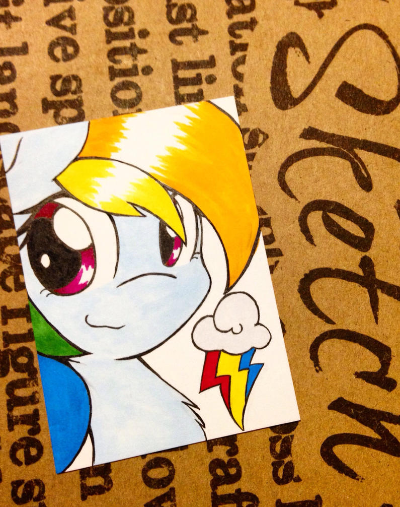 Rainbow Dash Card by gummigator