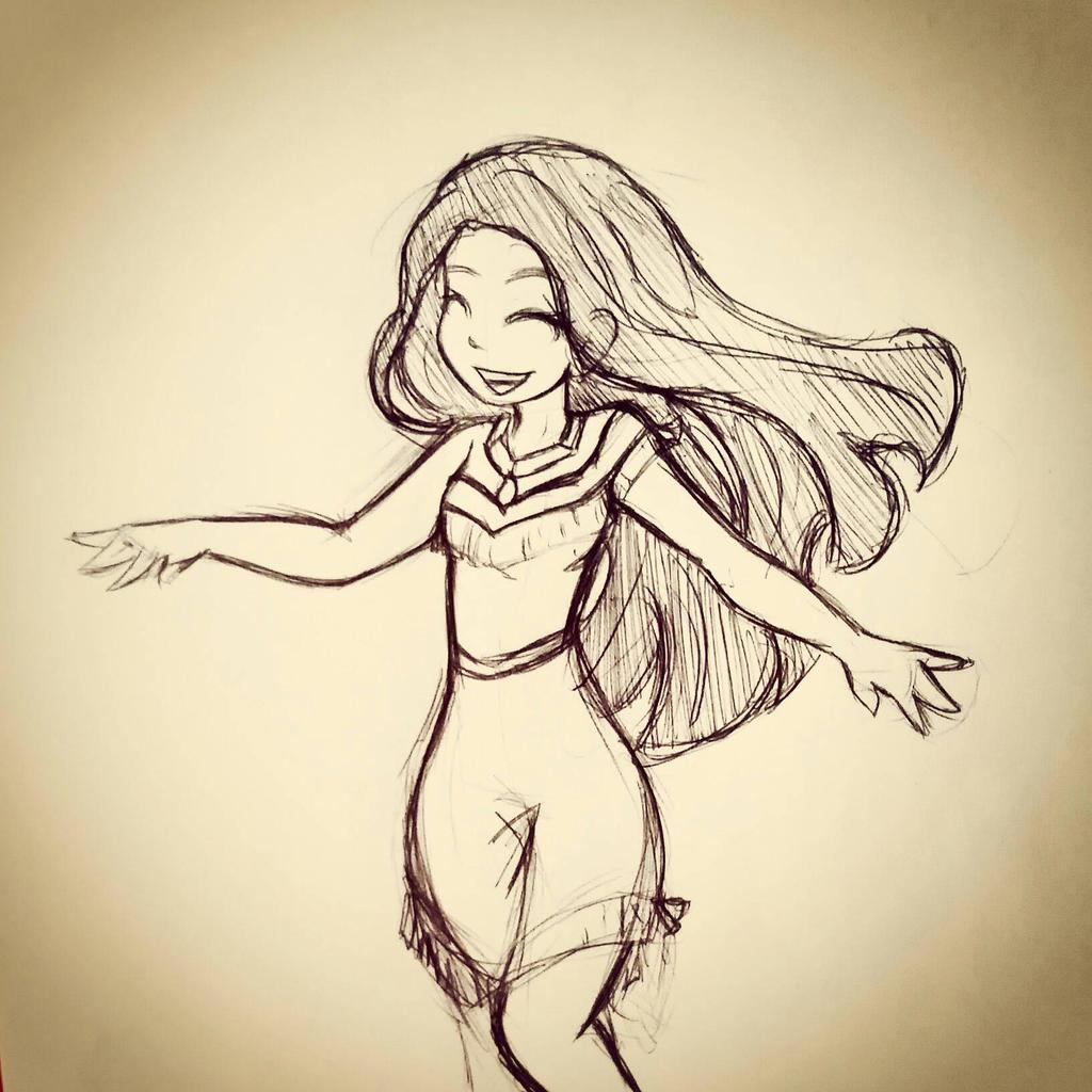 Pocahontas Doodle by gummigator