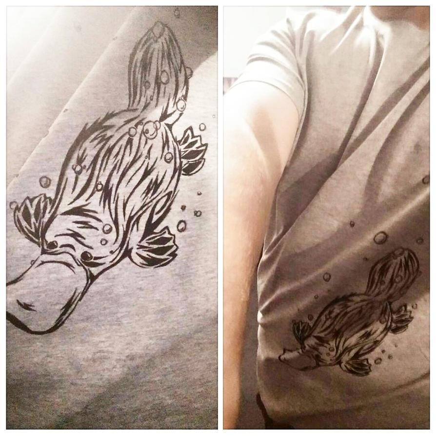 platypus shirt commission by gummigator