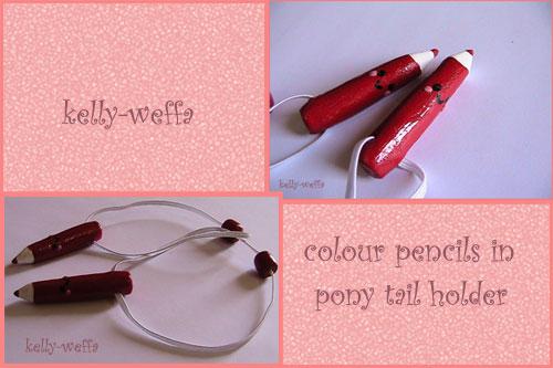 pencils pony tail holder by kelly-weffa