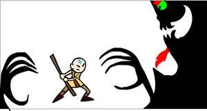 Aku vs Avatar Aang