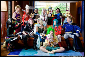 The Cast of Final Fantasy VI by BalthierFlare