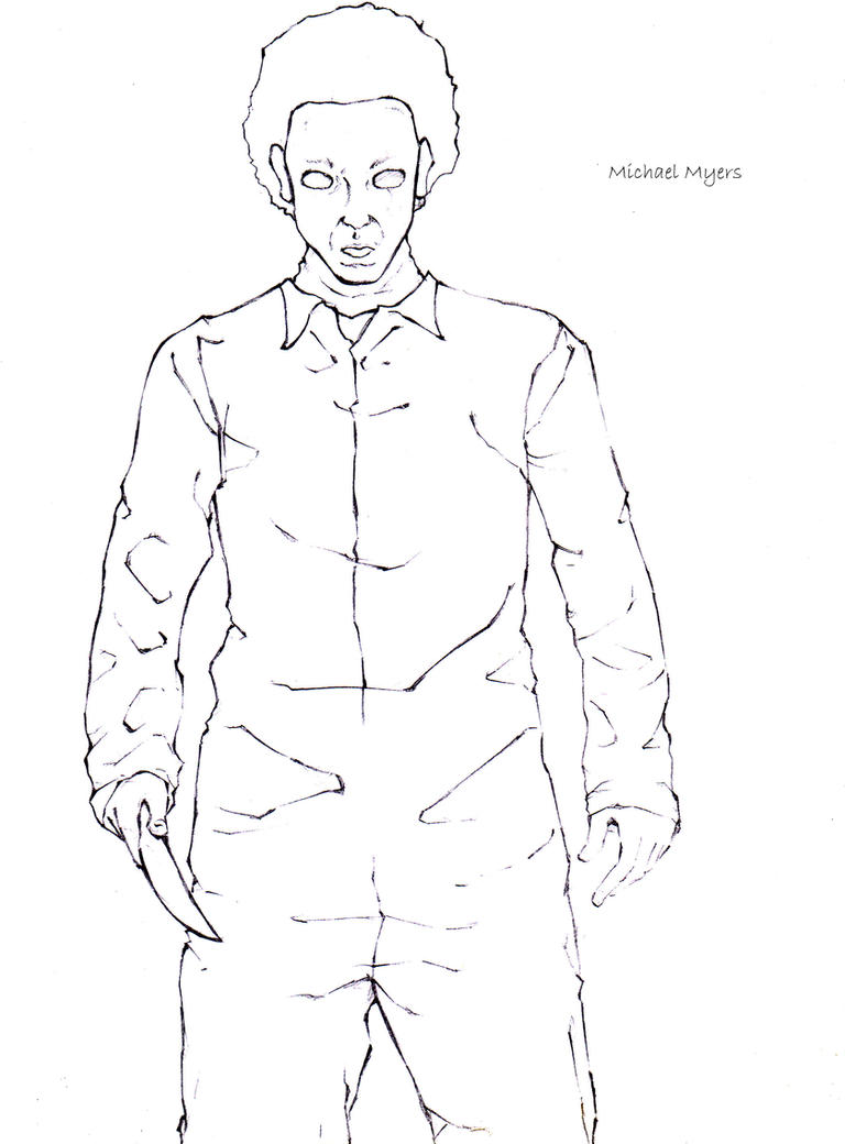 michael myers art coloring pages
