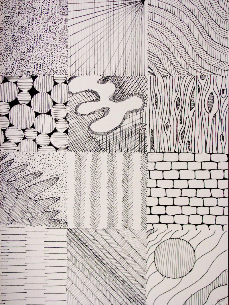 Elements Of Art Texture Examples : Pen texture examples by thistlesis on deviantart