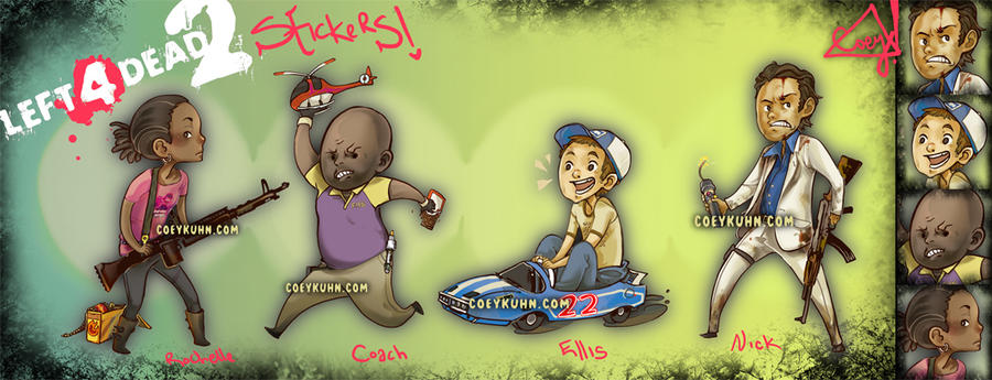 l4d2 stickers by CoeyKuhn