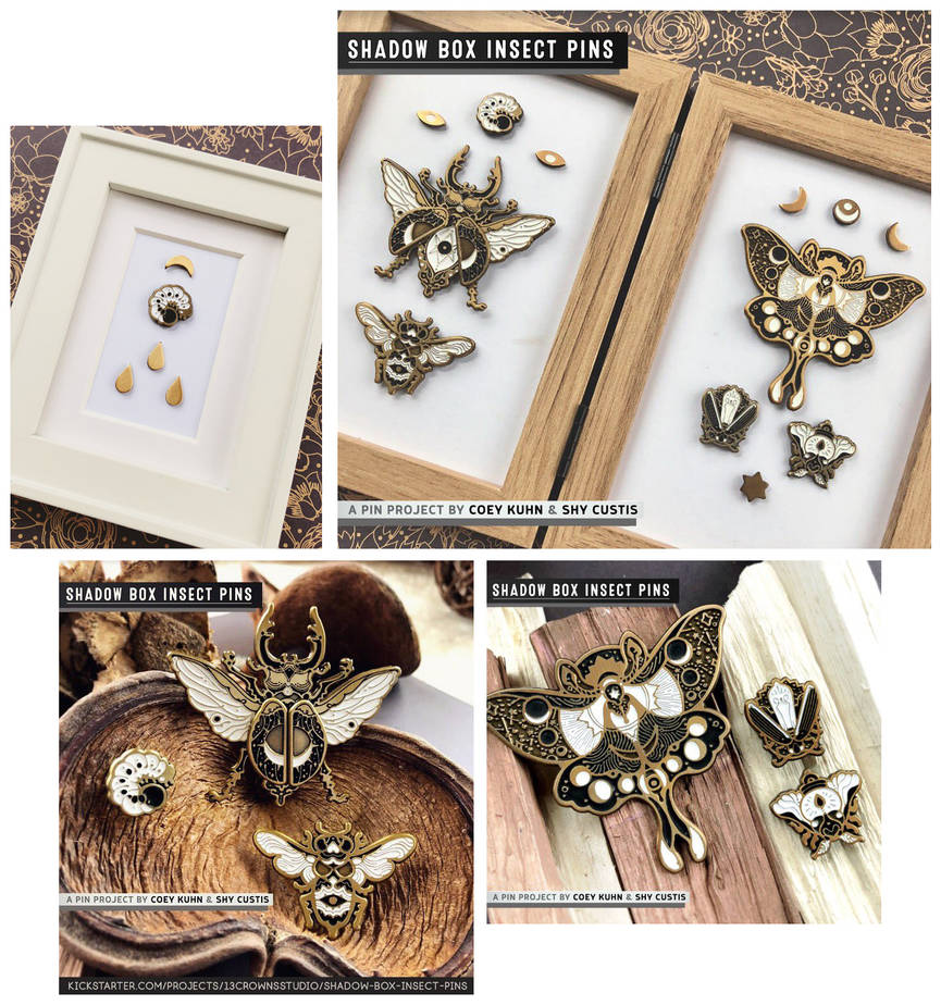 Shadowbox Insects: PIN SAMPLES! by CoeyKuhn