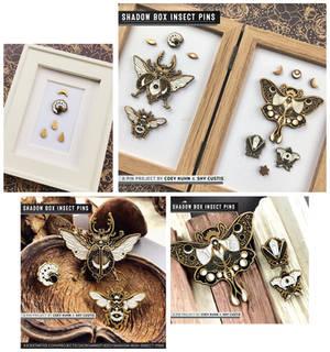 Shadowbox Insects: PIN SAMPLES!