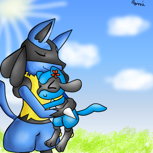 Reiki the Lucario and Riolita the Riolu brothers! by ...