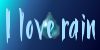 I Love Rain Stamp by Moon-Potato