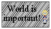 World is Important Stamp by CallMeFinland