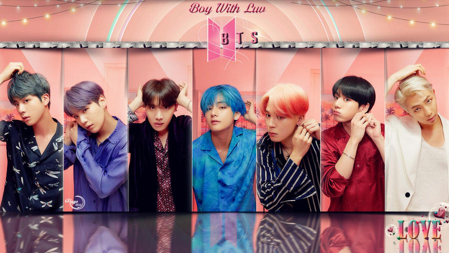 bts boy with luv   wallpaper by yuyo8812 dd4eh3p