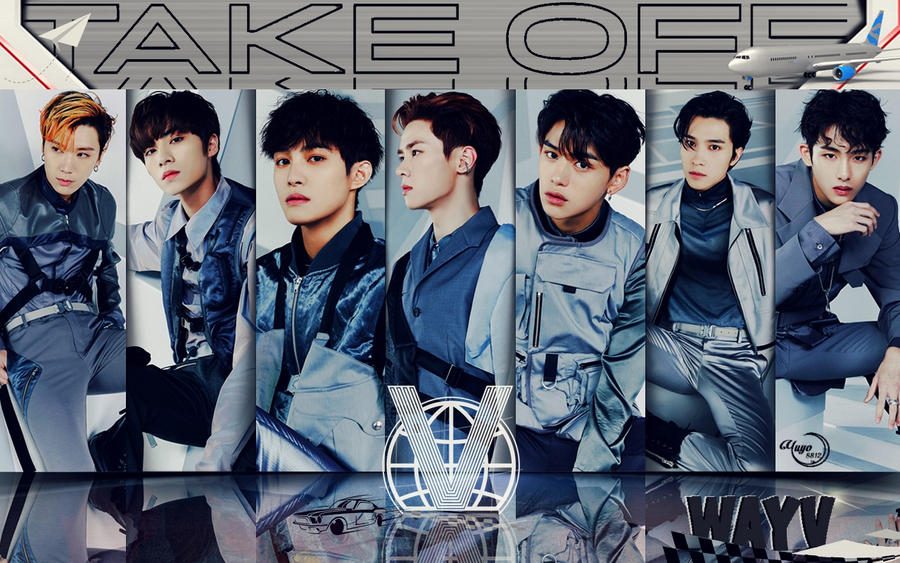 WAYV TAKE OFF #WALLPAPER by YUYO8812