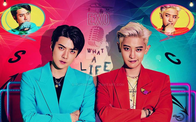 exo chanyeol x sehun   what a life  wallpaper by yuyo8812 ddc5c34