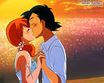 Pokemon :: Ash and Misty :: Kiss in the beach