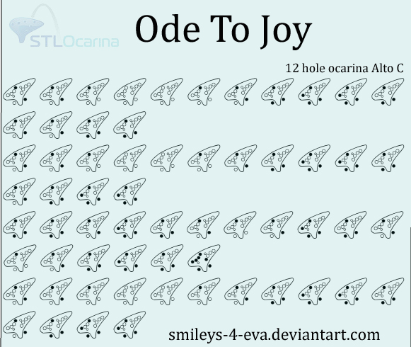 Ode To Joy 12 Hole Ocarina Tablature By Smileys 4 Eva On Deviantart