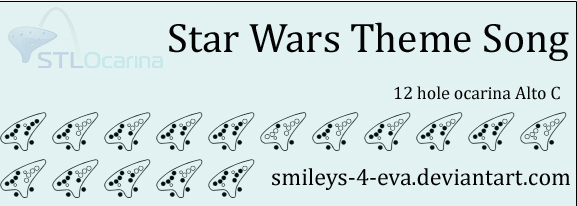 Star Wars Theme Song 12 Hole Ocarina Tablature By Smileys 4 Eva On Deviantart