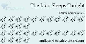 The Lion Sleeps Tonight 12 hole ocarina tablature