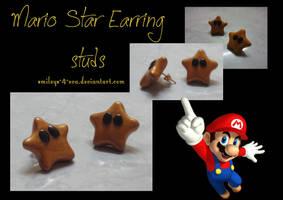 Mario Star studs by smileys-4-eva