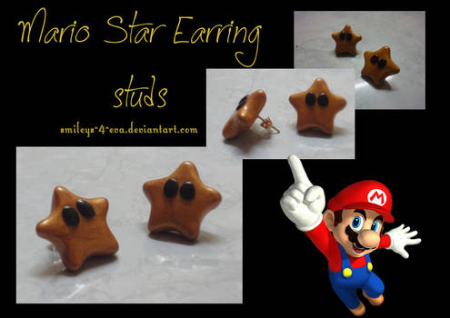 Mario Star studs
