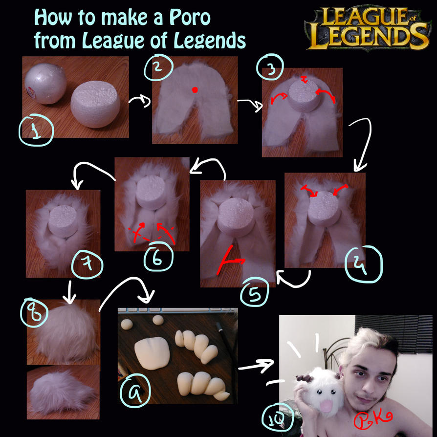 Tutorial - Poro from League of Legends by Pokeeeeee