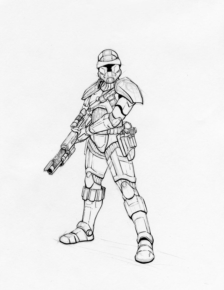 Star Wars Republic Trooper by k1lleet