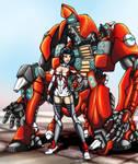O-Yoroi Kidobutai and Pilot (Coloured)