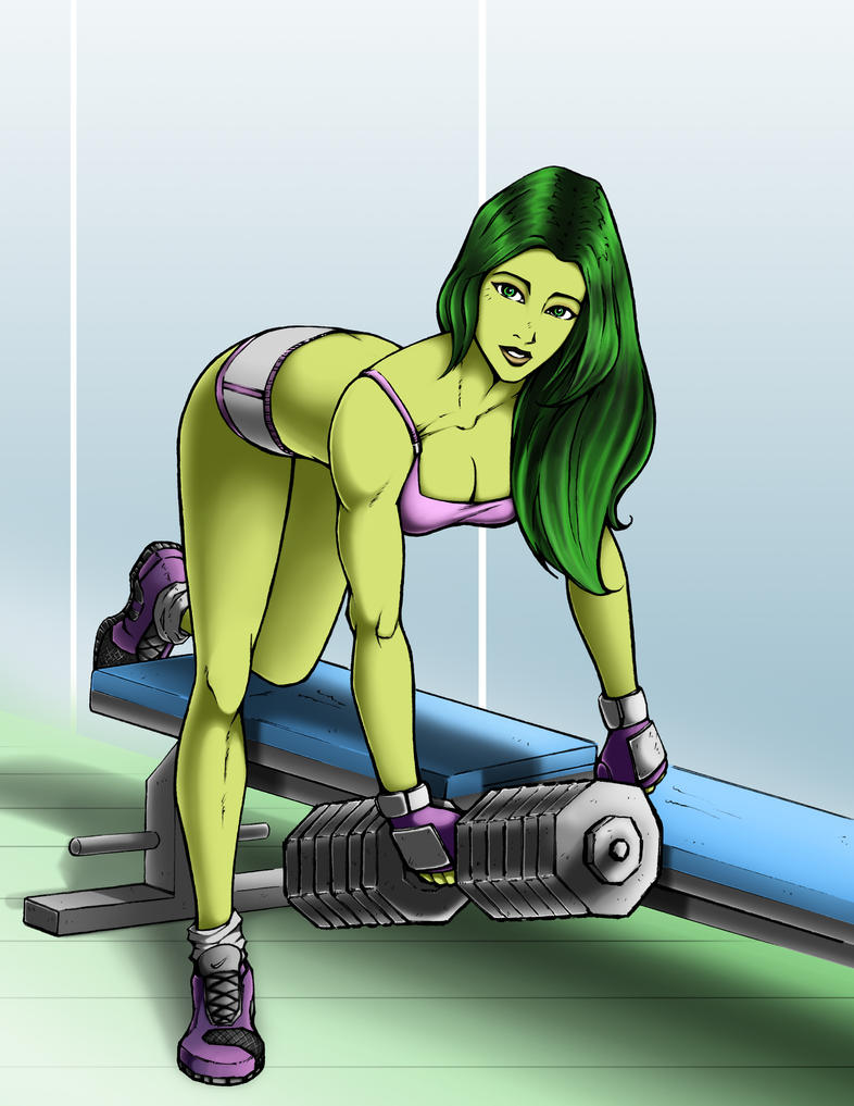She Hulk at the Gym by k1lleet