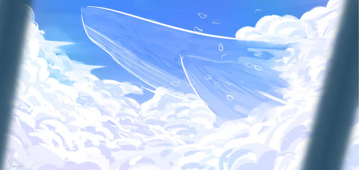 Whale in the sky