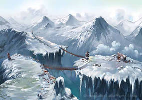 2D Concept Art-snowvalley by shipenglee