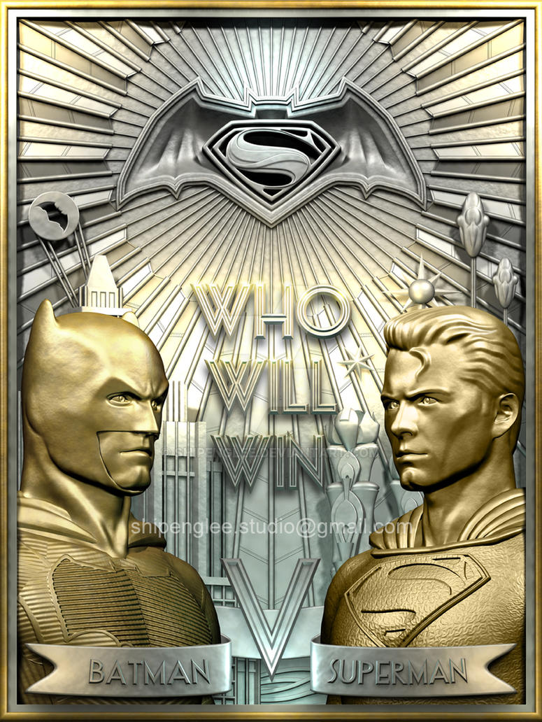 A poster for the movie-BATMAN V SUPERMAN by shipenglee