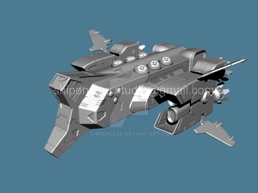 Spaceship-03-persp-Shipeng Lee by shipenglee