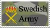 Swedish Army Stamp by slipzen-stamp