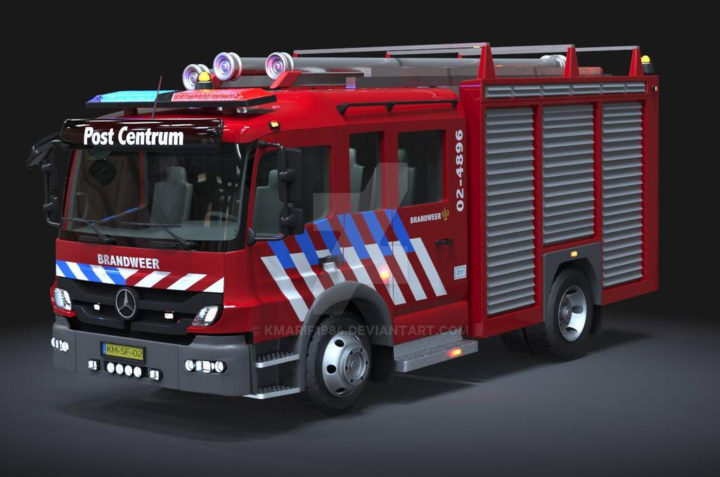 Automobile 3D Modeling: Fire Truck by kmarif1984