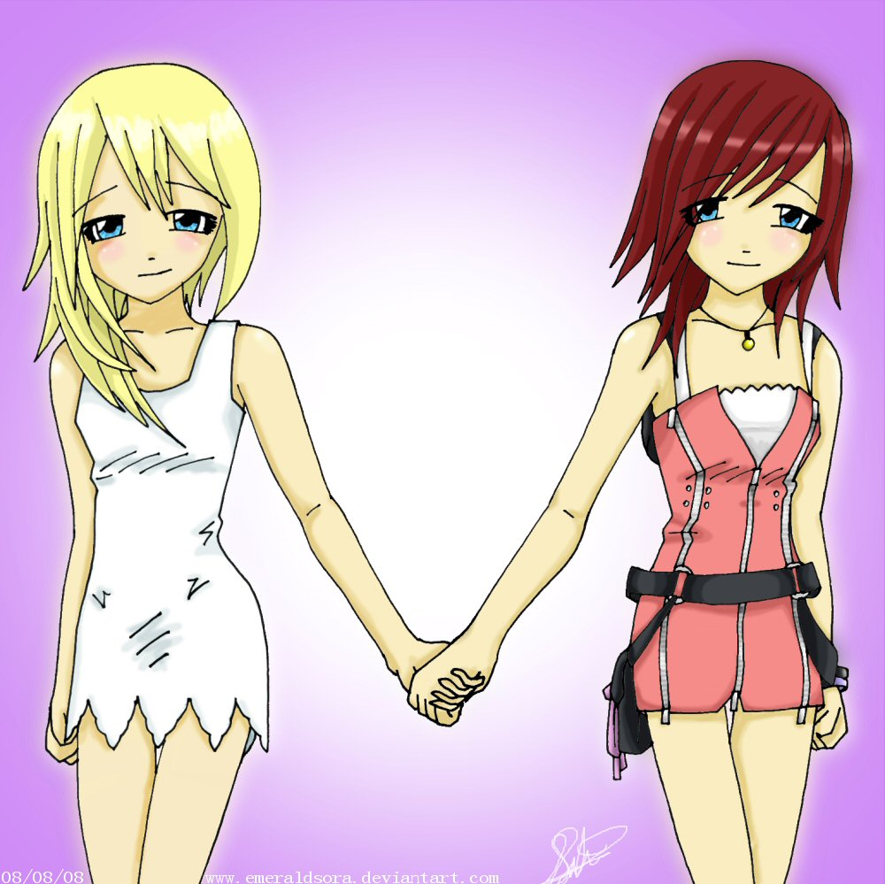 Kingdom Hearts Namine And Kairi Anime Kairi and Namin...