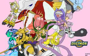 2004 Digimon girls by EmeraldSora