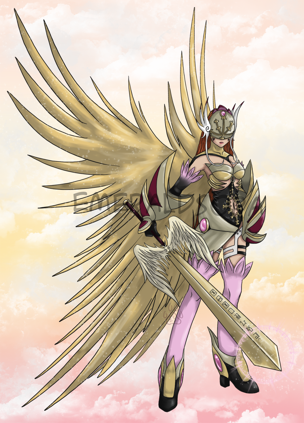 Valkyrianmon by EmeraldSora