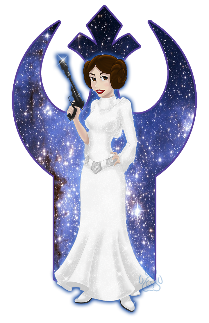 Disney Princess Leia by EmeraldSora